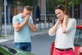 Auto accident scene: Sorrow and anguish