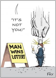 losing lottery cartoon